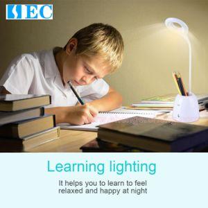 Sec-Td08 : lampe de lecture LED de Bureau Moderne USB rechargeable Lampe de table tactile Wit Porte-stylet Lampes de bureau à LED