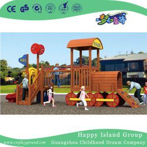 Escuela De Tren De Madera Exterior Para Ninos Juegos De Diapositivas