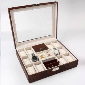 Cuir synthétique de la mode de stockage portable cas boîte à bijoux