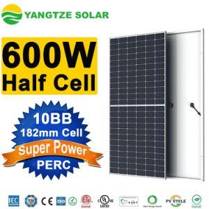 Yangtze 2021 nuevos productos de la mitad de la celda 182 mm 550W 580W panel solar de 600W