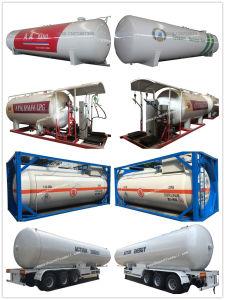 Rimorchio del serbatoio del rimorchio 60000liters GPL dell'autocisterna del propano 58.5m3 GPL del contenitore a pressione degli assi di marca 3 di Chengli Clw semi