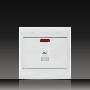 África do Sul Material de PC a dupla 16A 250V Botão Tomada do interruptor de parede Elétrica 4*4 (S120B13-1)