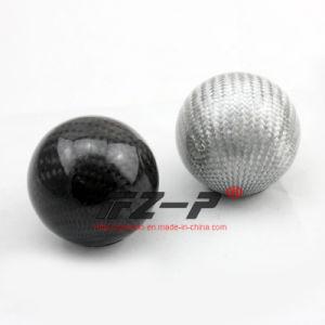 Carbón Fiber Aluminum Manual Ball Gear Shift Knob Black 52m m