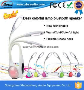 Altavoz Bluetooth Sensor táctil multifunción lámpara de escritorio con frío/calor/colores luz