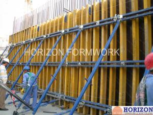 Encofrado de hormigón para la pared de cizallamiento y de columna