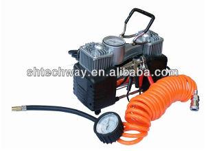 Ordinateur portable de la pompe de gonflage des pneus de voiture du compresseur à air en métal---Heavy Duty