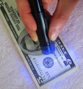 돈 검출기 빛 볼펜