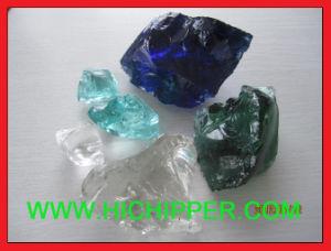 De blauwe Tuin siert het Verpletterde Gekleurde Grint van het Glas