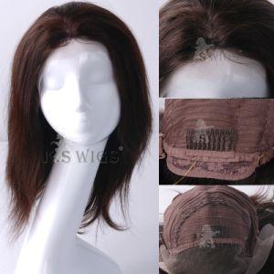 Rendas francesas dianteiro peruca com a Virgin de cabelo humano