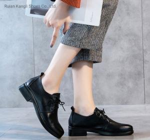 Комфорт повседневная обувь женщин обувь кожаную обувь 9602