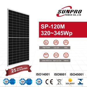 Potência de Alta Potência Sunpro 340W Mono Painel PV PV Module Módulo Solar Painel Solar
