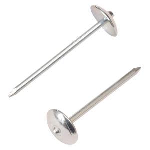 Tête de parapluie ou de la couleur de la tête de clou de toiture avec une rondelle en acier galvanisé ou sans rondelle lisse ou tige torsadée