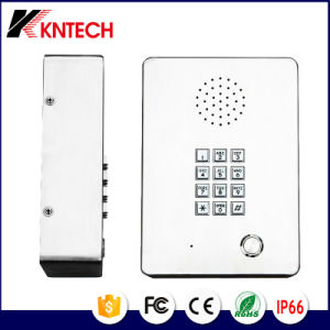Telefone de emergência em aço inoxidável Hand-Free Telecom Kntech Knzd-03