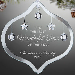 Verre en cristal personnalisé Craft partie Maison de vacances arbre de noël ornement de présenter des idées de cadeaux Décoration de Noël