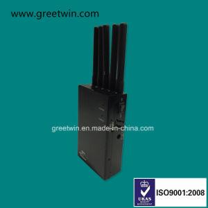 Portable señal WiFi Jammer Celular bloqueantes para autos GPS de seguimiento (GW-JN5L)