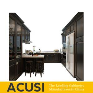 Governi all'ingrosso della casa della mobilia della cucina di legno solido della betulla di stile dell'americano U (ACS2-W09)