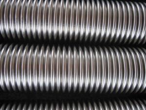 Tubo flessibile ondulato allineato dell'acciaio inossidabile
