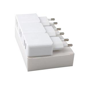 Adaptador de viaje de la UE de doble puerto USB cargador de pared europea