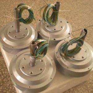 Generator In drie stadia van de Magneet van Coreles Lage T/min Pmg van de Schijf van de Turbine van de Wind van de As van Pmg200 50W 200rpm de Verticale Permanente