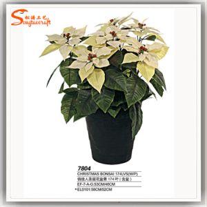 2016 Banheira de venda de Natal de plástico artificial Bonsai Flor de seda