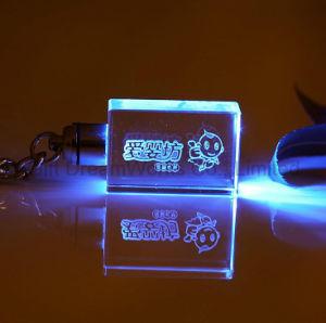 승진 선물을%s 다중 색깔 LED 가벼운 열쇠 고리를 가진 수정같은 열쇠 고리
