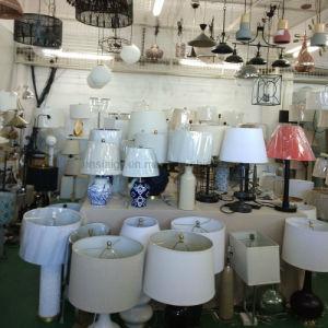 Polvilhe Quarto Beira Alta Qualidade tecido candeeiro de mesa de vidro da lâmpada