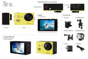 1080P Deportes WiFi cámara de acción de la videocámara