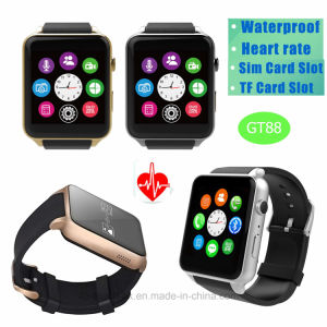 Telefoon van het Horloge van Bluetooth de Slimme met de Monitor van het Tarief van het Hart (GT88)