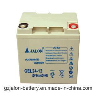 Eccellente fare funzionare la batteria solare del gel di prestazione (12V24AH)