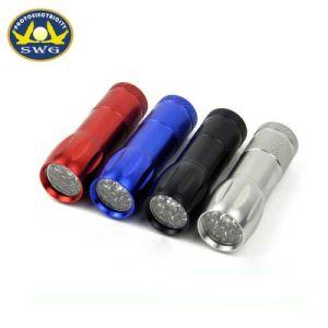 AAA電池が付いているボーリングボールの形9LEDの小型小型の懐中電燈
