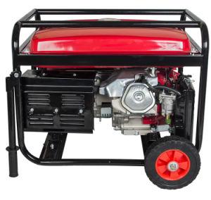 6000W de tipo abierto de 220V Cable de cobre de grupo electrógeno generador de gasolina de 15 CV con asas y ruedas