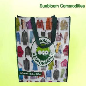 hecho personalizado PP laminado de la bolsa de tejido de la impresión de bolsas de compras