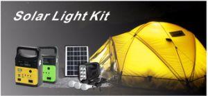 Panel solar portátil 10W Batería de litio Inicio Solar LED del sistema de la luz solar con radio FM