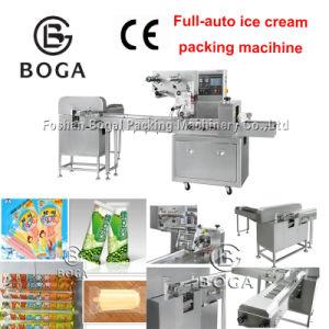 フォーシャンのパッキング機械価格を包む100%年の工場Bg250の自動アイスクリームの水平の枕