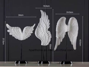 Wholesale figuritas de resina en miniatura de escultura de ala de Ángel Blanco