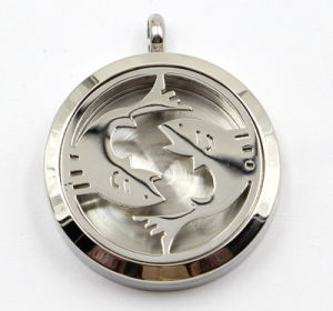Diametro 30mm Pisces Stainless Steel Perfume Diffuser Locket Pendant