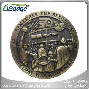 Aniversario de la moneda metálica con diseño personalizado de moneda