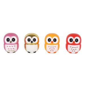 Personalizar el color de múltiples lindo sabor dulce Owl Lip Balm