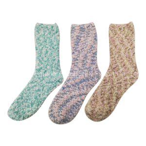 Женщин в нечетких экипажа носки красочные лопающейся кукурузы теплой мягкой зимой носки