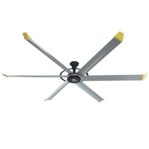 Gran Ventilador de techo ventiladores Hvls Ventilación Industrial para el público y sitio comercial con accionamiento directo del motor de CC