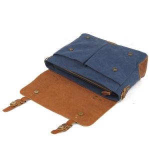 O projeto mais recente Vintage Couro Real Galpão de bolsas de computador para o homem (RS-6807D)