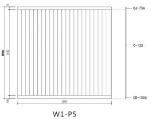 O composto de plástico Madeira impermeável WPC Painel de parede decorativos (W1-P5).