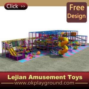 CE thème coloré en plastique du château de terrain de jeux intérieur (ST1401-2)