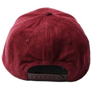 Comercio al por mayor Suede Hat bordados 6 Panel Tapa Snapback