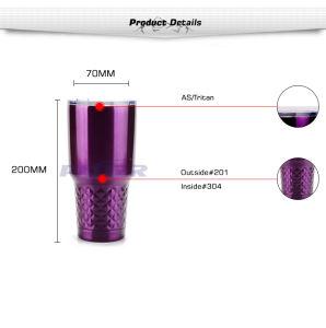 Vaso de café de alta calidad púrpura botella aislada de acero inoxidable