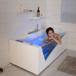 2015 горячей джакузи массаж очистить стекло ванной (SF5B001)