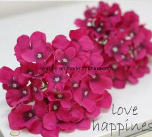 Décoration maison Fleurs artificielles célibataires chefs de la soie Fleurs de gros de Vision de l'hortensia