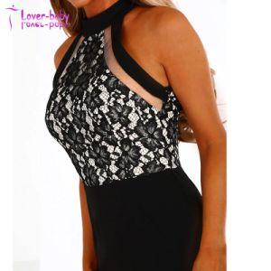 Camiseta sin mangas dama hermosa Dangerously in love encaje negro vestido MIDI