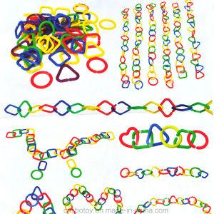 Educación geométrica plástica de la conexión de cadena que aprende el juguete