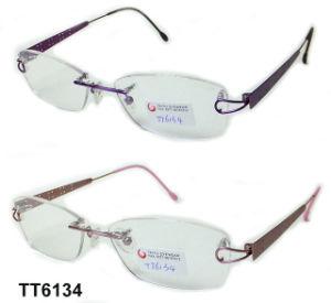 Optische Frame van de Frames van de Manier van het Titanium van de manier het Holle (TT 6134)